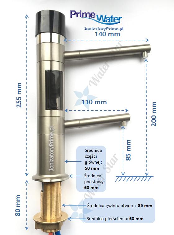 Bateria jonizator wody podblatowy prime