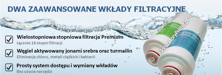 Jonizator wody filtry Prime,